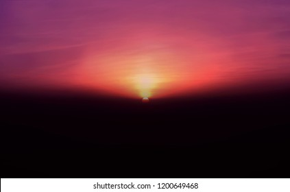Sunrise hour at the Gorakh Hill Station, Sindh Pakistan