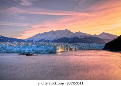 Sunrise at Hubbard Glacier Alaska