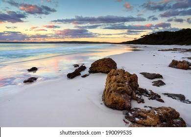 The sunrise at Hyams Beach was beautiful.  Jervis Bay NSW Australia