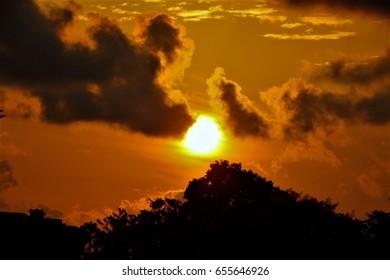 Sunrise images from Singapore