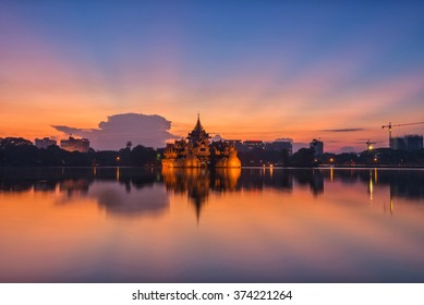 Sunrise at Kandawgyi Lake, Yangon, Myanmar