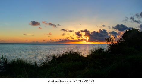 Sunrise at Keel Point on Anegada, British Virgin Islands.