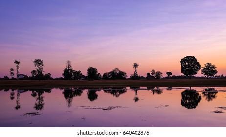 Sunrise at Khong Chiam River