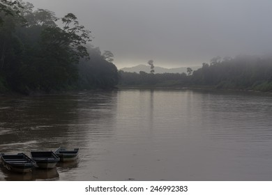 Sunrise at Kinabatangan river