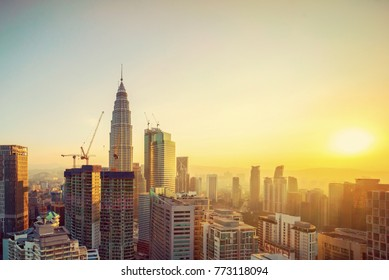 Sunrise at Kuala Lumpur