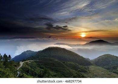 sunrise Lake To ba north Sumatra Indonesia