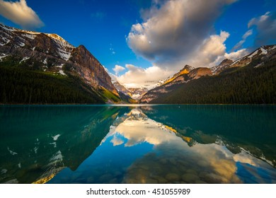 Sunrise at Lake Louise in Banff, Alberta, Canada