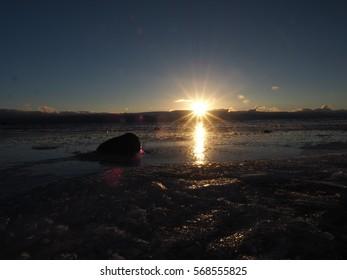 Sunrise from Lake Tahoe