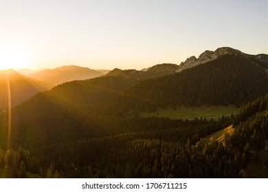 Sunrise at the lake Tegernsee