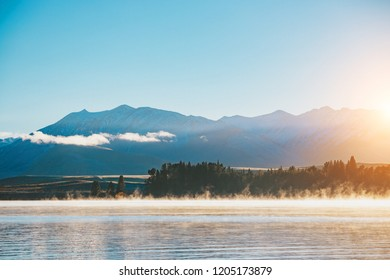 Sunrise at Lake Tekapo, South Island, New Zealand