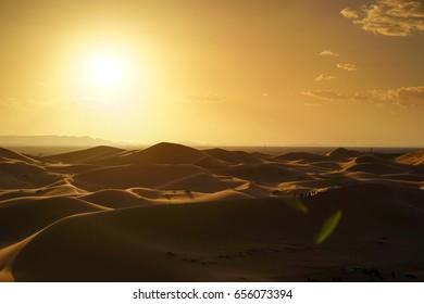 Sunrise Landscape View from Sahara Desert, Morocco
