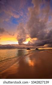 sunrise at lanikai beach hawaii