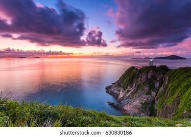Sunrise lighthouse in Hong Kong