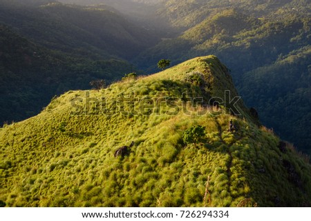 139a6f70473131 Sunrise Little Adams Peak Near Ella Stock Photo (Edit Now) 726294334 ...