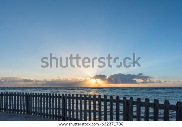 Sunrise Mahahual Quintana Roo Mexico Stock Photo Edit Now 632371706