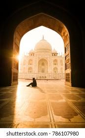 Sunrise a the majestic Taj Mahal [Agra, India]