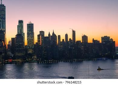 sunrise at Manhattan