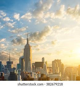 Sunrise in Manhattan, New York, USA