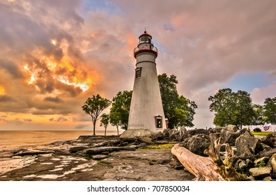 Sunrise at Marblehead Lighthouse in Ohio