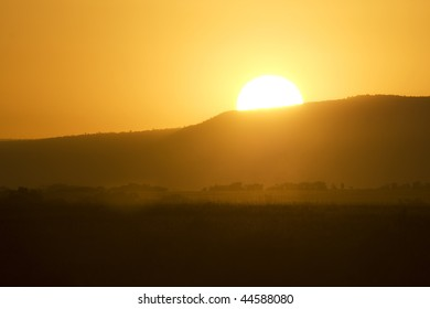 Sunrise in masai mara, Kenya