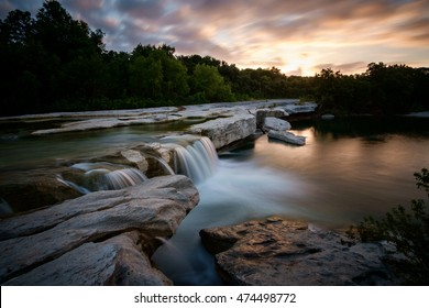 Sunrise at McKinney Falls State Park in Texas