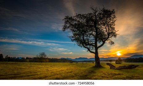 Sunrise in the meadow at Heaven Hill Trails, Lake Placid, New York, the Adirondacks