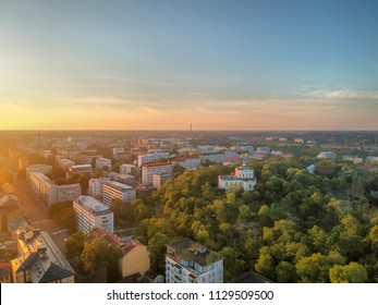 Sunrise at the middle of the City. Shot at the city of Turku Finland.
