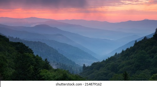 Sunrise at Mills Overlook Great Smoky Mountain National Park