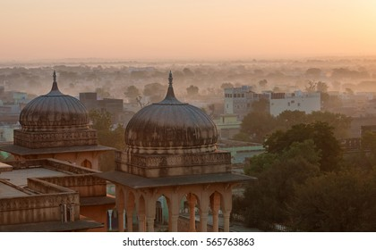 Sunrise moment in Rajasthan - India.
