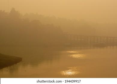 sunrise at Mon-khmer bridge