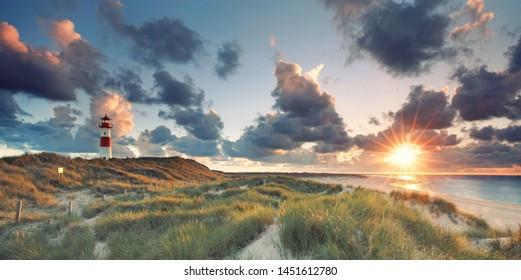 amanecer en la playa de List, Sylt Alemania
