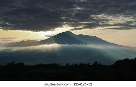 Sunrise at mount salak Bogor, West Java.