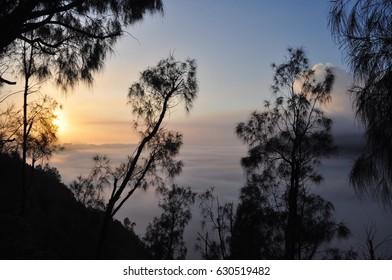 sunrise in the mountain