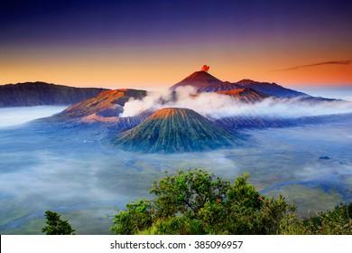 Sunrise Mountain Bromo  Location East Java indonesia