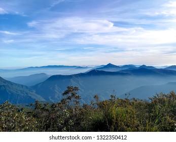 sunrise mountain korbu and gayong (Korga) at Perak, Malaysia.
