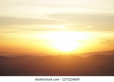 Sunrise mountain landscape.