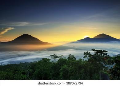 sunrise  Mountain Location Kintamani Bali