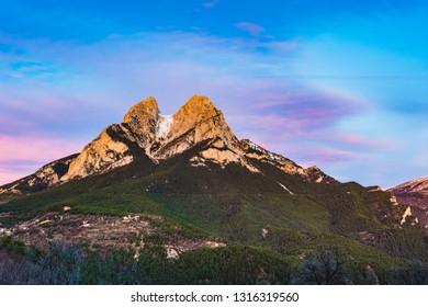 Sunrise at the Mountain of Pedraforca.