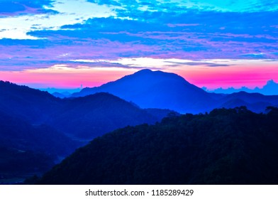 Sunrise in the mountain region of Banaue Philippines