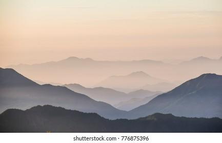 Sunrise mountains china