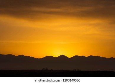 Sunrise in the mountains.Helan mountain, Inner Mongolia, China
