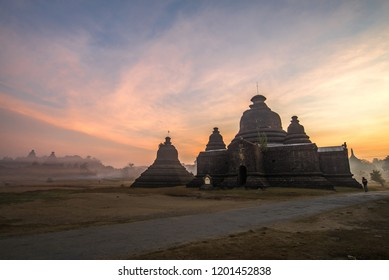 Sunrise at Mrauk U,Ancient city,Rakhine State,Myanmar,Asia.