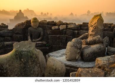 Sunrise at Mrauk U,Ancient city,Rakhine State,Myanmar,Asia.