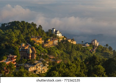 Sunrise in Nagarkot in the Kathmandu Valley. The edge of the valley from where is the best view of the Himalaya.
