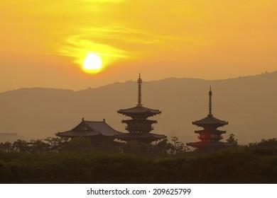 The Sunrise Of Nara Yakushiji