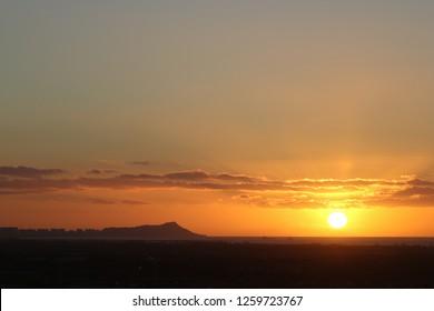 Sunrise near Diamondhead, Oahu, Hawaii