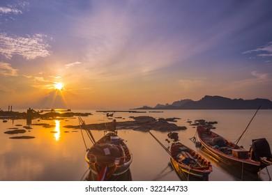 Sunrise near the fisherman village