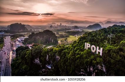 Sunrise near Ipoh Town, Perak Malaysia