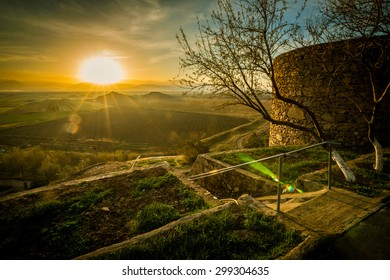 Sunrise near Khor Virap monastery, Armenia