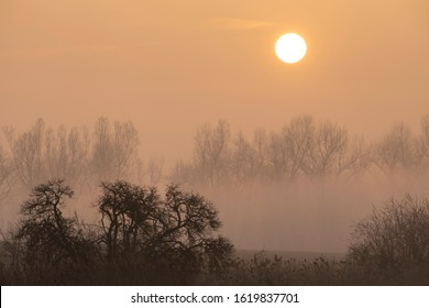 sunrise near Znojmo, South Moravia, Czech Republic - Shutterstock ID 1619837701